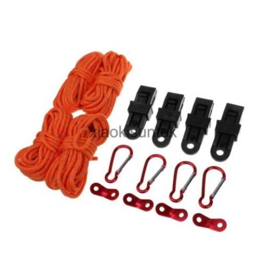 Reflective Rope/guy Line Runners/tarp Clamp/carabiner - Tent Accessories Set Accessory / China