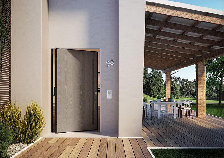 Porta d'ingresso blindata con apertura a bilico Di.Big