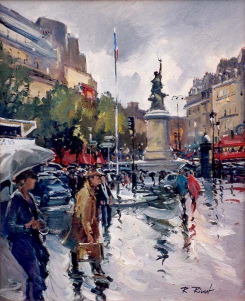 Blog of an Art Admirer: Paris in Painting by Robert RIcart French Artist
