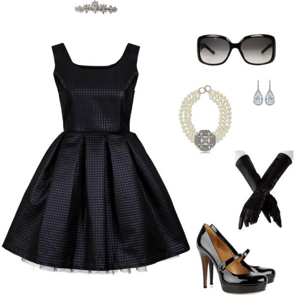 So classy for the rehersal: Fashion Style, Breakfast At Tiffany'S, Elegant Dresses, Audrey Hepburn, Breakfast At Tiffanys, Breakfast At Tiffany Outfits, Archimedes16 Polyvore Com, Little Black Dresses, The Dresses