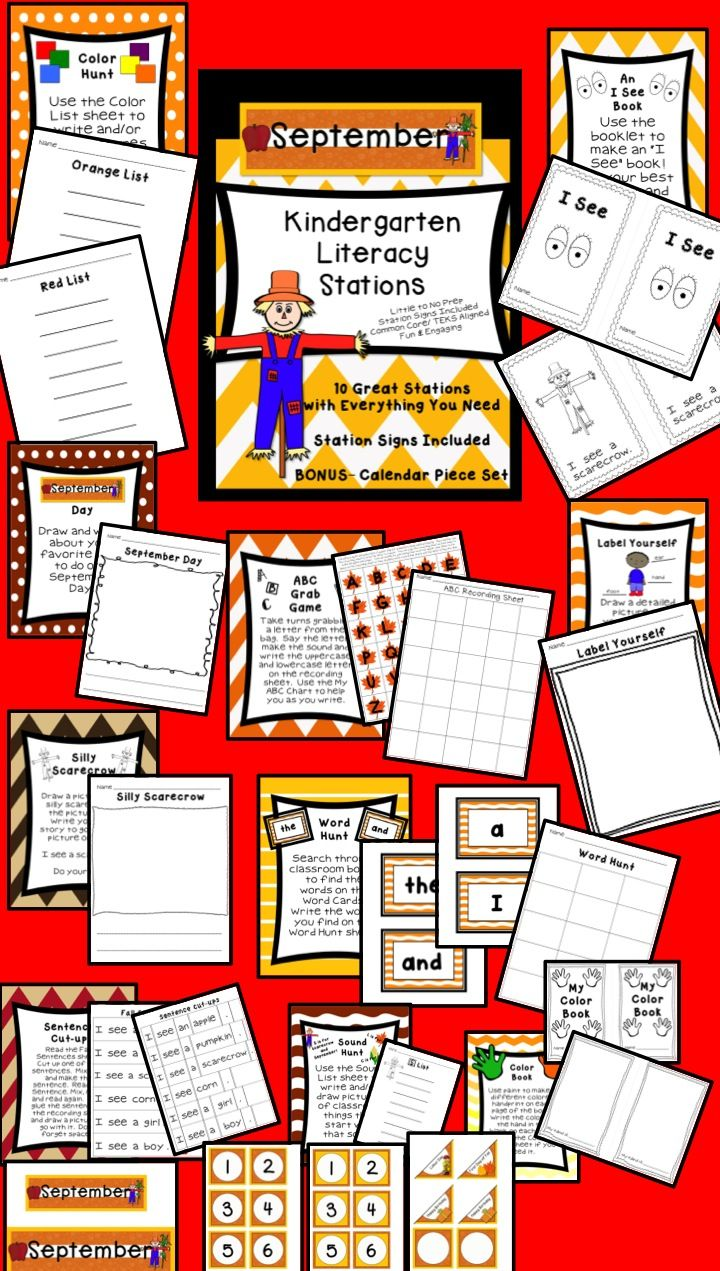 Kindergarten Calendar Center : Ideas about literacy stations on pinterest