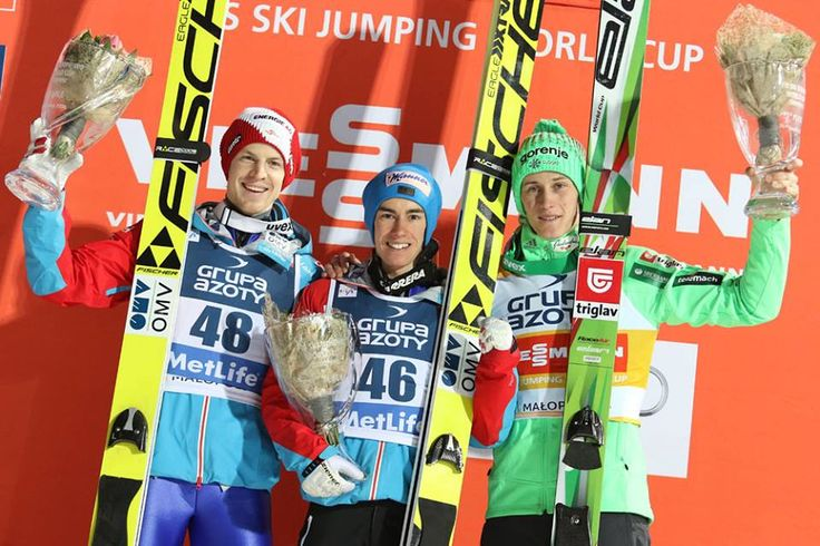 World Cup in Zakopane, Poland: 1. Stefan Kraft (AUT) 2. Michael Hayböck (AUT) 3. Peter Prevc (SLO)