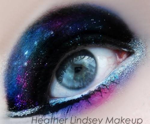 Galaxy Makeup! | Makeup | Creative eye makeup, Galaxy ...