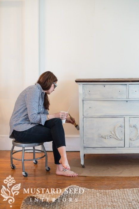 how to strip and repaint wood furniture