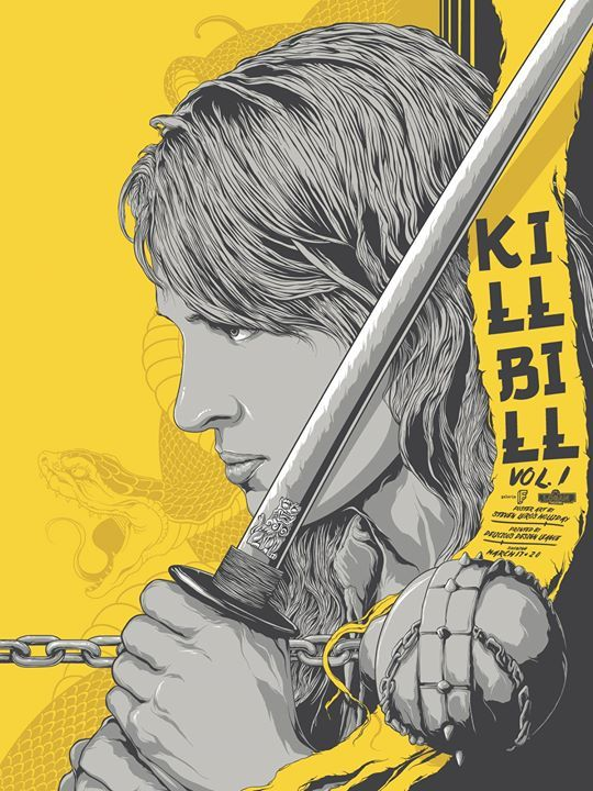 Kill Bill Vol 1 Poster 2017 by Steven Holliday