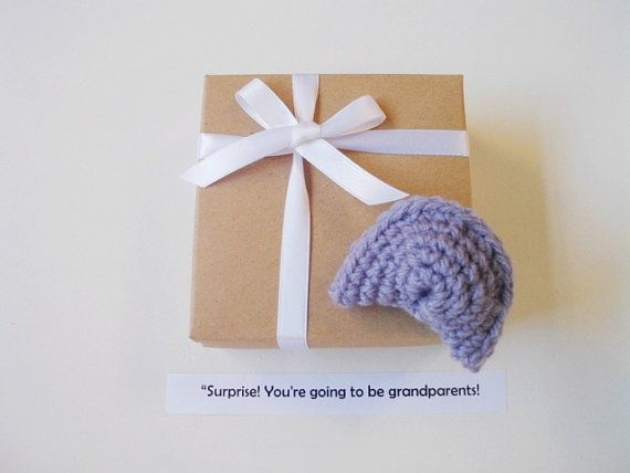 Gender reveal box New baby announcement Fortune by prettyobject