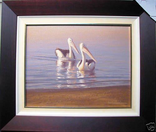 Original oil titled  The Majestic Duo  by Australian Artist Ron Van Gennip