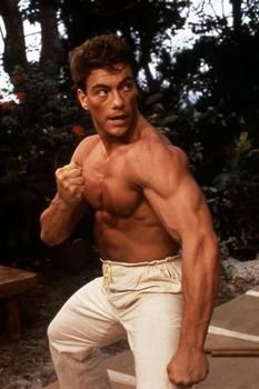 Jean Claude Van Damme....Very noteworthy celebrity who has performed martial arts for many years and performed in several motion pictures