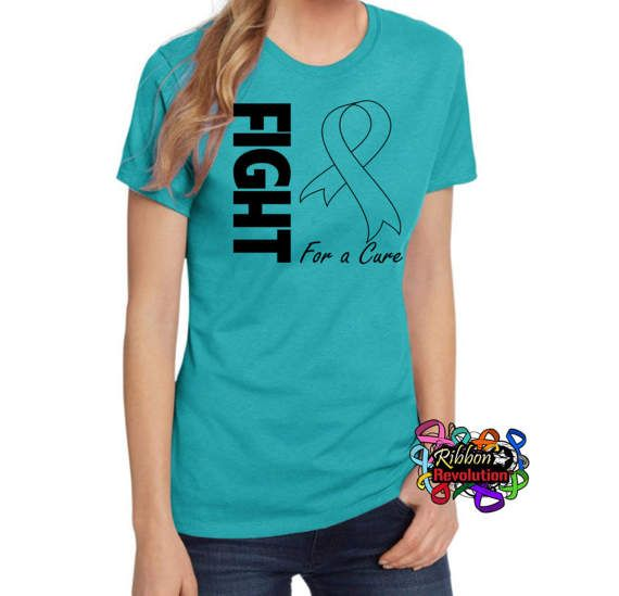 Ovarian Cancer Fight For a Cure Teal Shirts Batten Disease
