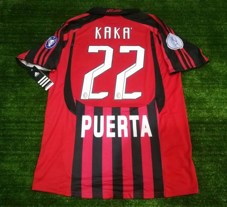 Match Worn Shirts 2007 UEFA Super Cup AC Milan Puerta Maglia KAKA #22 Size M #adidas #Jerseys