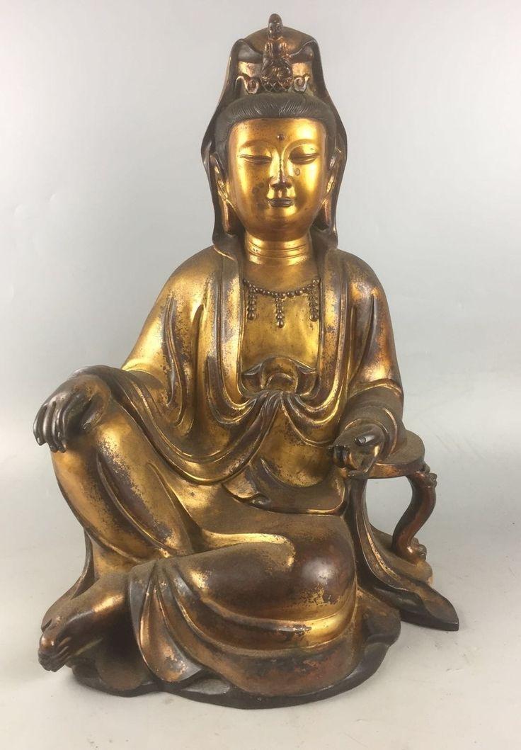 Lot 122 S105 - Chinese Gilt Bronze Buddha - Est. $3000-5000 - Antique Reader
