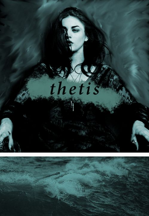 "Thetis: a sea-nymph and shape-changer, and the mother of Achilles.  ""She was taller than I was, taller than any woman I had ever seen. Her black hair was loose down her back, and her skin shone luminous and impossibly pale, as if it drank light from the moon. She was so close I could smell her, seawater laced with dark brown honey. I did not breathe. I did not dare."" #myth"