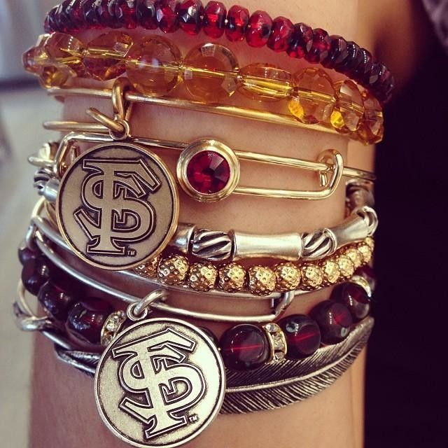 Florida State University Charm Bangles | Alex and Ani - yes these are the ones I want @Keith Savoie Savoie Savoie Savoie Betterson