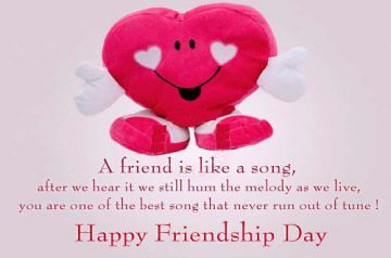 Friends are the light of life. Hold a true friend with both your hands. Happy Friendship Day.