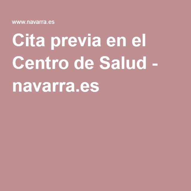 Cita previa en el Centro de Salud - navarra.es