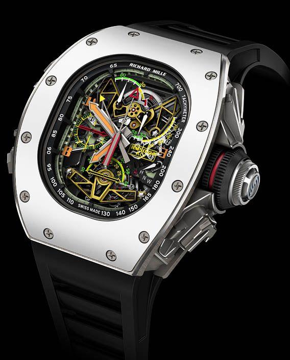 La Cote des Montres : La montre Richard Mille RM 50-02 ACJ Tourbillon Chronographe à Rattrapante - RM/ACJ : Naissance d'une collaboration