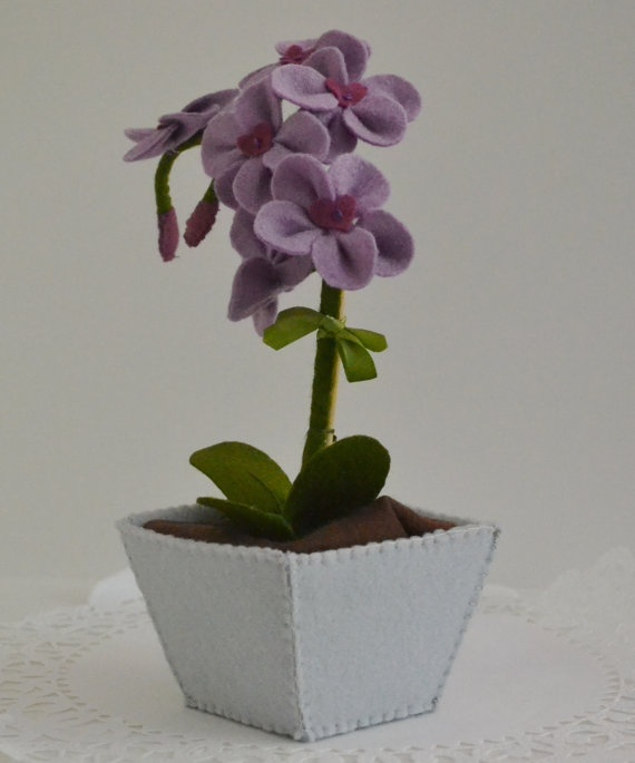 Sweet Felt Orchid by SweetPetiteShoppe on Etsy, $55.00