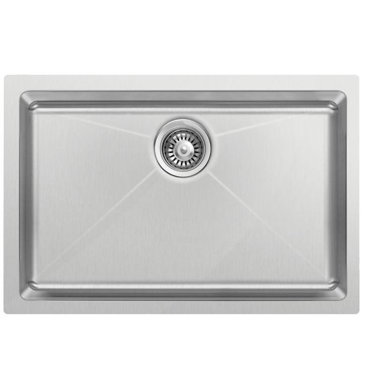 SinkRus 272010ZU - Grade 304 / Gauge 18 Stainless Steel - Single bowl - Undermount