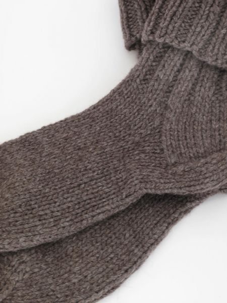 """hand knitted """"home-socks"""" handgestrickte """"Home-Socken"""" mit Cashmereanteil"""