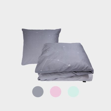 Night Bedlinen from PYTT Living available in three different colors with minimalistic print.