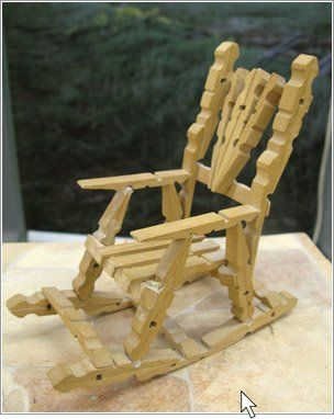 clothespins, I use to make these and make Grandpa and Grandma dolls to set in them.