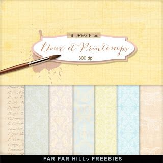 New Freebies Kit of Backgrounds - Doux et Printemps:Far Far Hill - Free database of digital illustrations and papers