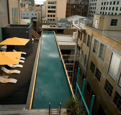 At the Adelphi Melbourne you can experience one of the world's most photographed hotel pools. It's on the roof and overhangs Flinders Lane.