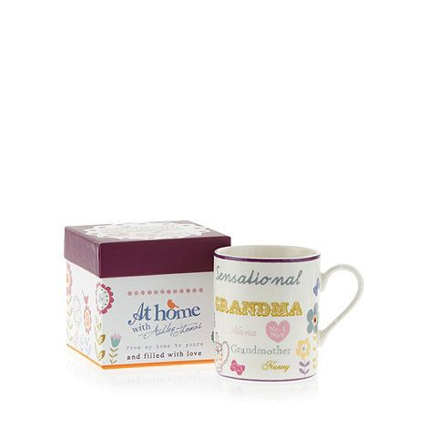 This 'Sensational Grandma' gift mug from Ashley Thomas is crafted from fine china with an array of positive slogans and gardening illustrations, and comes in a matching gift box.