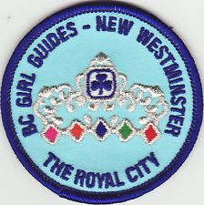 New Westminster District Patch, Burnaby Royal Area, Girl Guides of Canada, GGC