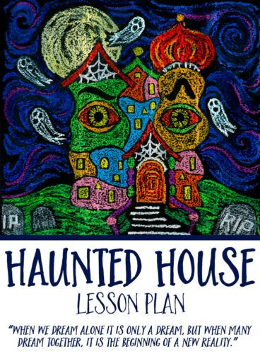 Haunted House Art Lesson Plan -Objective: Students become acquainted with Hundertwasser's art and architecture, then create a Hundertwasser-inspired haunted house in the spirit of Halloween. #greatartstartshere