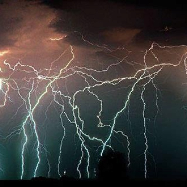Lighting storm...