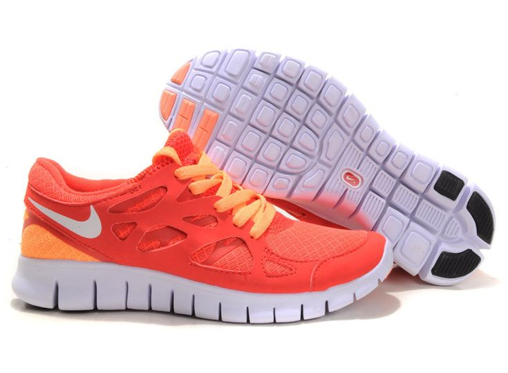 Bright Mango Action Red Sail Nike Free Run 2 Women's Running Shoes .nice red shoes cheap sale #nikes