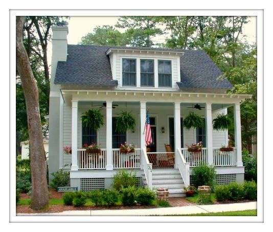 17 best images about southern homes on pinterest for Southern cottage homes