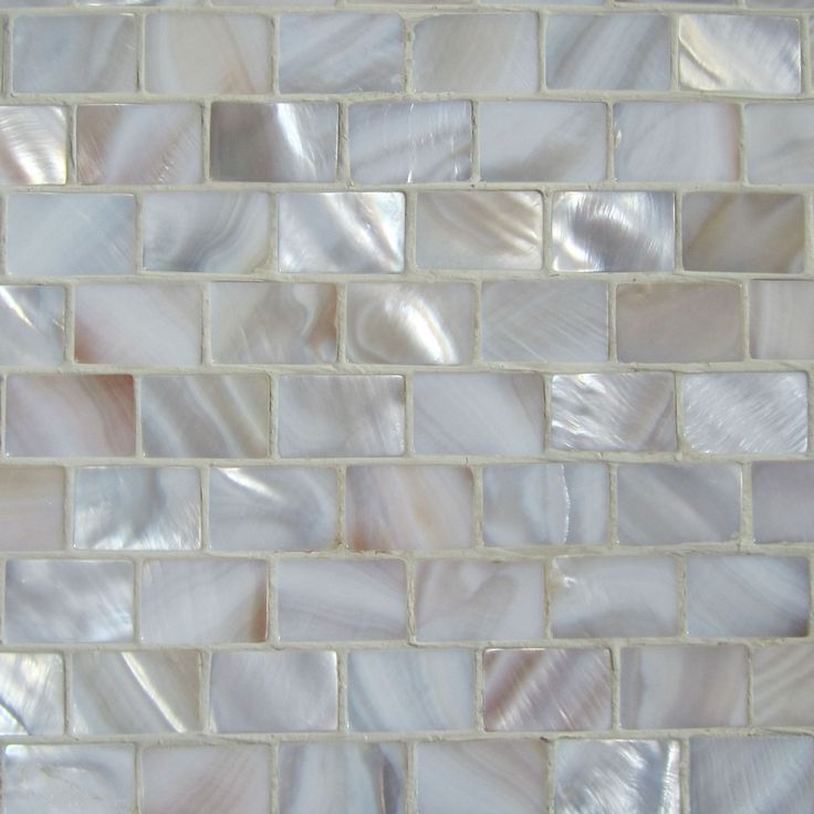 mother of pearl tile for bathroom .. pretty