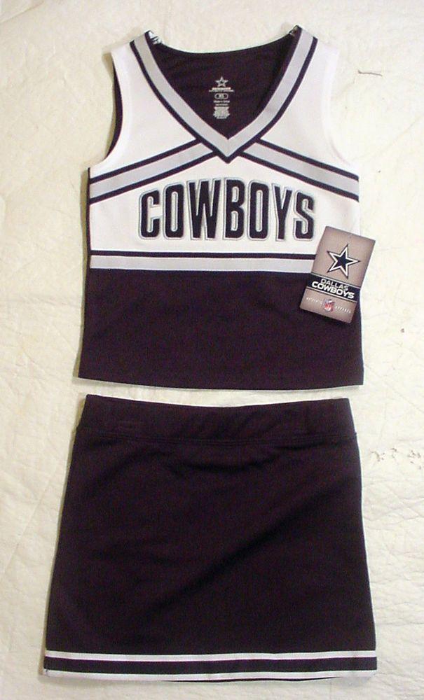 NWT Dallas Cowboys Girls Cheerleader Uniform Outfit Halloween Costume Sz XS - L #DallasCowboys #DallasCowboysgee h NV