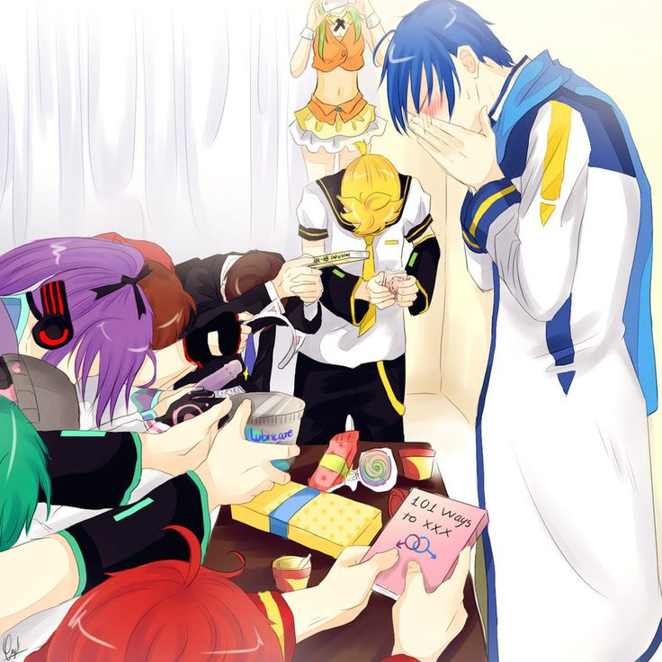 We love you by Mimoru-chan.deviantart.com on @DeviantArt (What are these guys teaching you, Kaito?!)