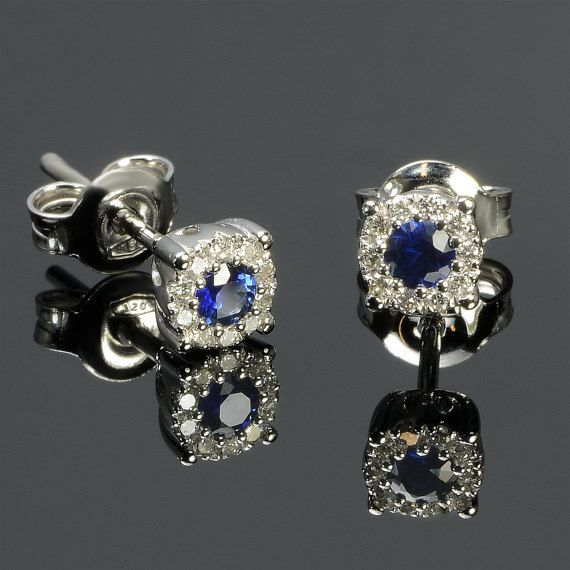 Earrings in 18 kt gold with #sapphires of 0,24 ct and natural brilliant-cut white #diamonds of 0,11 ct. The #earrings are available in white gold, rose gold, yellow gold but you can also customize carats, quality, and color of #gemstones. All our #jewelry are made in italy. Contact us for any particular request.