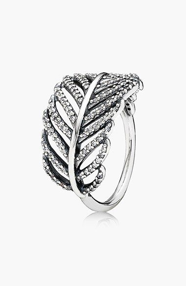 leaf cocktail ring - love this!