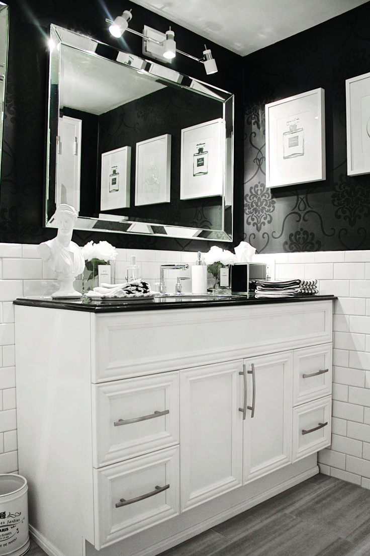 """""""Women think of all colours except the absence of colour. I have said that black has it all. White too. Their beauty is absolute. It is the perfect harmony."""" – Coco Chanel www.cutlerkitchenandbath.com"""