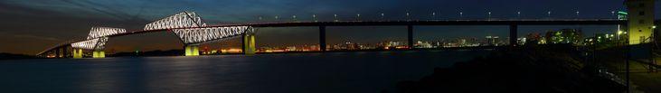 東京ゲートブリッジ・パノラマ パノラマ写真自動スクロール