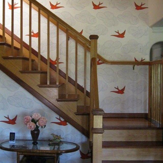 Daydream orange in a gorgeous stairway.