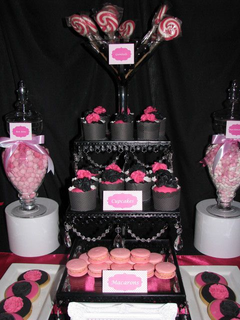 Hot Pink And Black Zebra Baby Shower Decorations