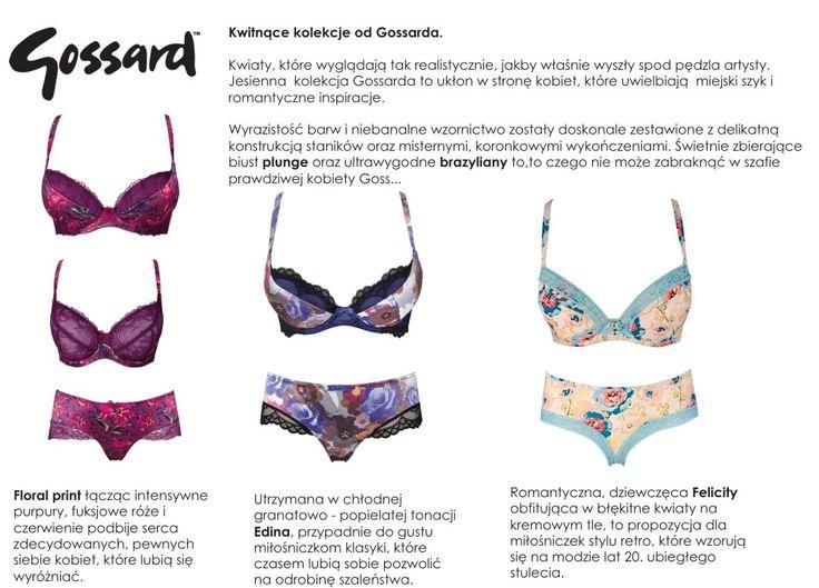Floral collection of Gossard - kwiatowa kolekcja gossarda,bielizna,lingerie