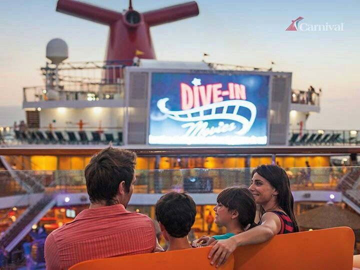 Movie Night On Carnival Cruise  CRUISE  Pinterest  Horror Stories TVs And