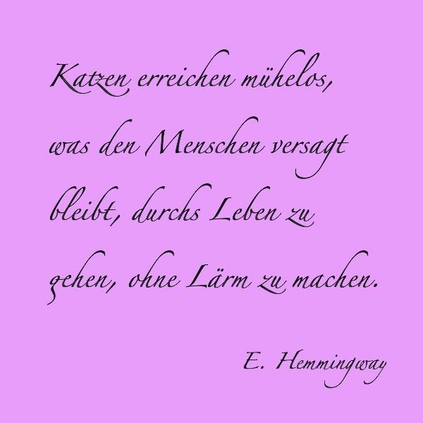 Katzen - E. Hemmingway