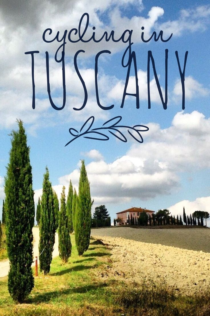 TUSCANY ITALY - Cycling Tuscany is a dream destination. Rolling hills, vineyards and cedar trees are a picture postcard setting.