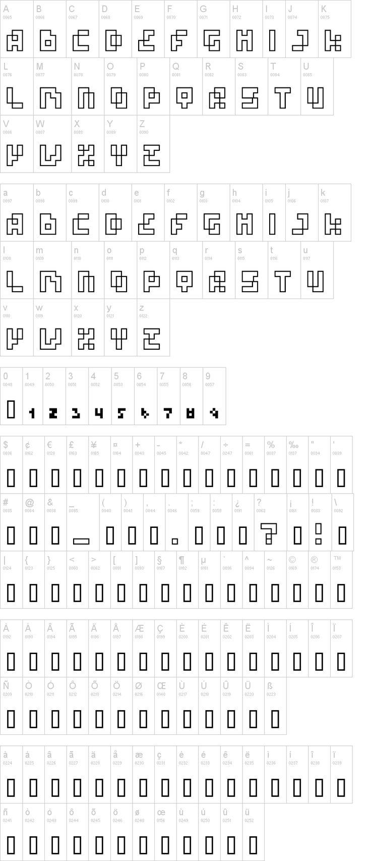 Four Pixel Caps Font   dafont.com
