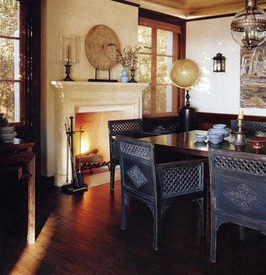 Cindy Crawford dining room  by Michael S. Smith