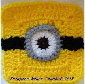 Minion Square Motif - Free Crochet Pattern - (ravelry)