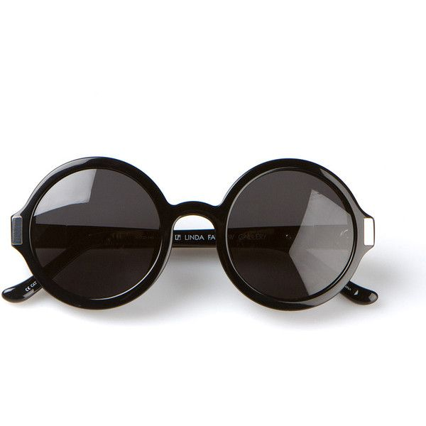 The Row black round sunglasses found on Polyvore